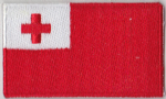 Tonga Embroidered Flag Patch, style 04